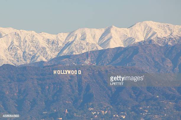 Hollywood Sign with Snow