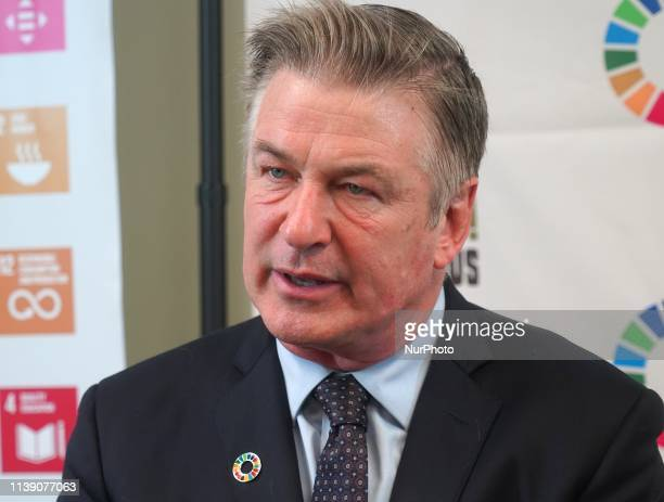 Hollywood star and environmental activist Alec Baldwin spoke at the United Nations on April 23 2019 in New York City about the importance of...
