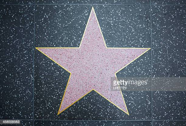 hollywood star - walk of fame stock pictures, royalty-free photos & images