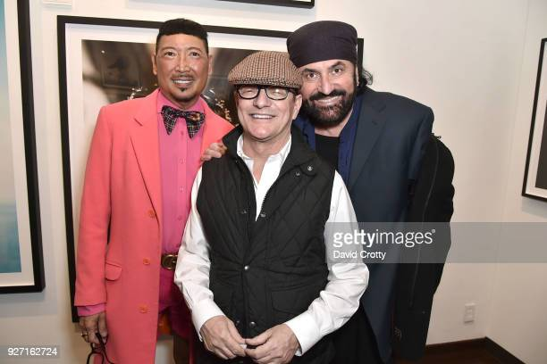 Hollywood stylist Raymond Lee Matthew Rolston and Hollywood hairdresser Peter Savic at Rolston's Hollywood Royale exhibition preview at Fahey/Klein...