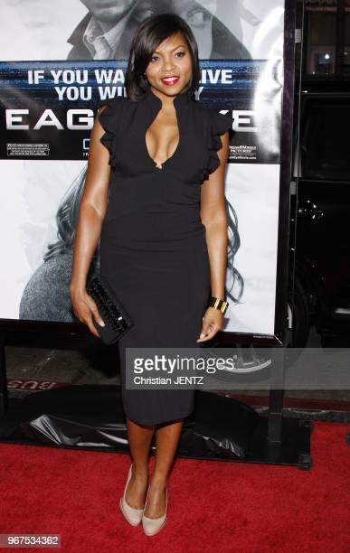 Hollywood Taraji P Hanson at the Los Angeles Premiere of 'Eagle Eye' held at the Mann's Chinese Theater in Hollywood California United States...