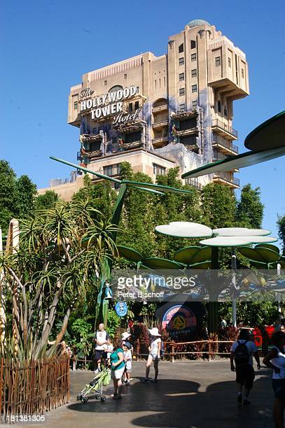 Hollywood Tower Hotel 'Disneyland Resort' Anaheim bei Los Angeles Kalifornien USA Amerika Nordamerika Vergnügungspark Freizeitpark Reise