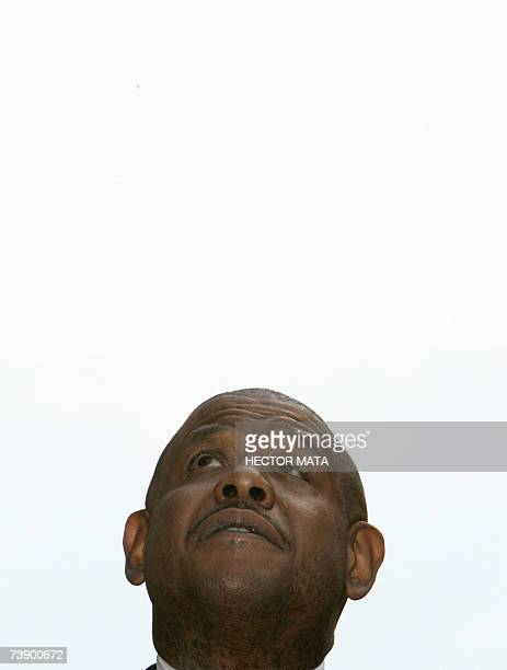 Actor Forest Whitaker speaks during the ceremony for his star on the Hollywood Walk of Fame in Hollywood CA 16 April 2007 Best Actor Academy Award...