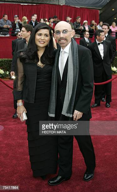 """Hollywood, UNITED STATES: Actor Jackie Earle Haley, nominee for Best Supporting Actor for his work in """"Little Children,"""" and wife Deborra Lee..."""