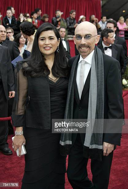Actor Jackie Earle Haley nominee for Best Supporting Actor for his work in Little Children and wife Amelia Cruz arrive at the 79th Academy Awards in...