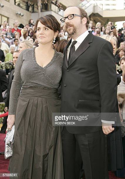 Actor Paul Giamatti arrives with Elizabeth Cohen 05 March for the 78th Academy Awards presented at the Kodak Theater in Hollywood California Giamatti...