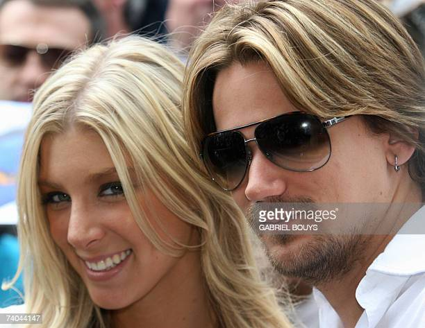 Caleigh Peters daughter of hairdresser and film producer Jon Peters poses with her boyfriend Sean Stewart son of singer Rod Stewart after Jon Peters...