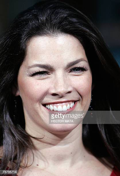"""Hollywood, UNITED STATES: Former skater Nancy Kerrigan arrives for the premiere of """"Blades of Glory"""" in Hollywood, CA 28 March 2007. AFP PHOTO /..."""