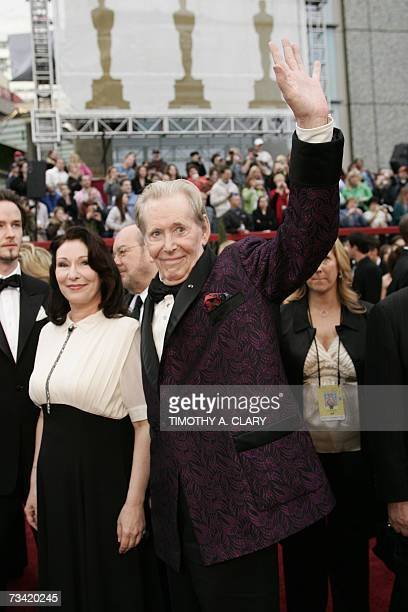 Peter OToole nominee for Best Actor for his work in Venus arrives with his daughter Kate O'Toole at the 79th Academy Awards in Hollywood California...