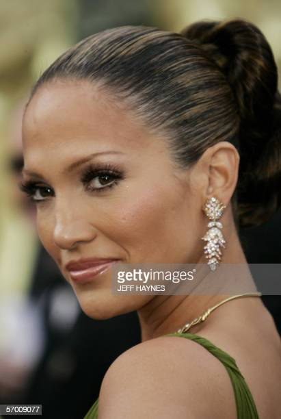 Singer and actress Jennifer Lopez arrives 05 March for the 78th Academy Awards to be presented at the Kodak Theater in Hollywood California AFP...