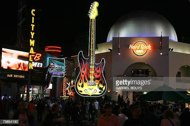 The Hard Rock Cafe in the Citywalk at Universal Studios in Hollywood is pictured 09 April 2007 Universal Studios Hollywood is the original Universal...