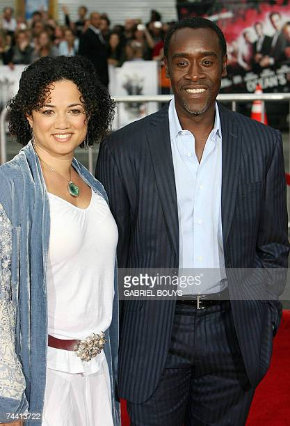 US Actor Don Cheadle and his wife Bridgid Coulter arrive for the US premiere of Ocean's Thirteen 05 June 2007 at the Grauman's Chinese Theater in...