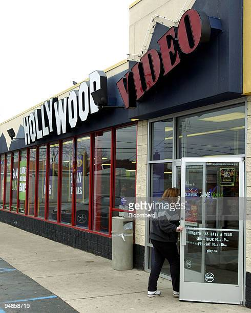 Hollywood Video customer enters a Detroit, Michigan location Monday, March 29, 2004. Leonard Green & Partners LP agreed to buy Hollywood...