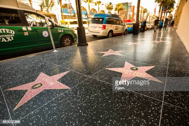 hollywood walk of fame in los angeles california usa - celebrities stock pictures, royalty-free photos & images