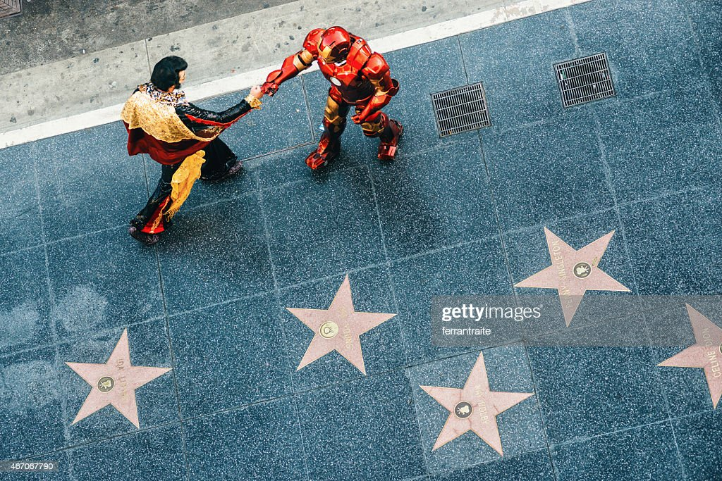 Hollywood Walk of Fame in Los Angeles : Stock Photo