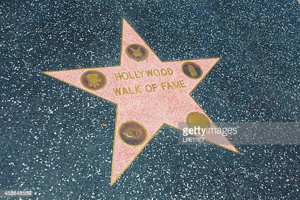hollywood walk of fame - walk of fame stock pictures, royalty-free photos & images