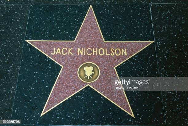hollywood walk of fame star for jack nicholson - jack nicholson photos stock pictures, royalty-free photos & images
