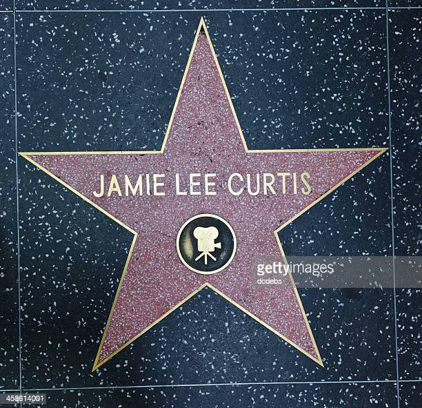 hollywood walk of fame star jamie lee curtis - jamie lee curtis photos stock pictures, royalty-free photos & images