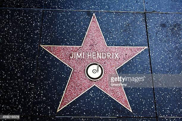 hollywood walk of fame étoiles de jimi hendrix - jimi hendrix photos et images de collection