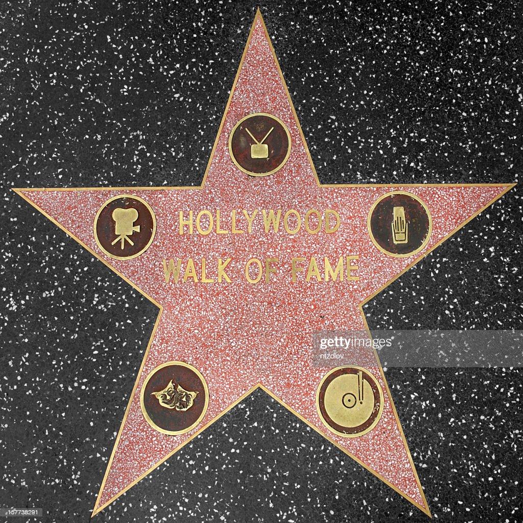 Hollywood Walk of Fame-Sterne : Stock-Foto
