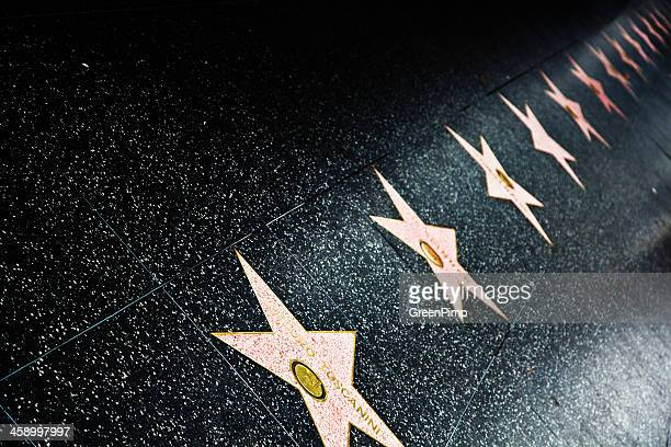 hollywood walk of fame star - walk of fame stock pictures, royalty-free photos & images