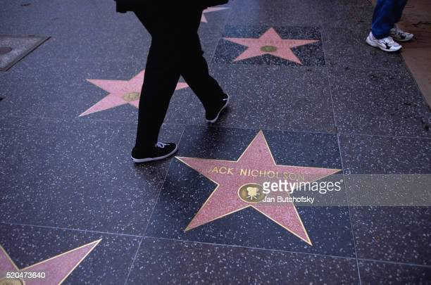 hollywood walk of fame star - jack nicholson photos stock pictures, royalty-free photos & images