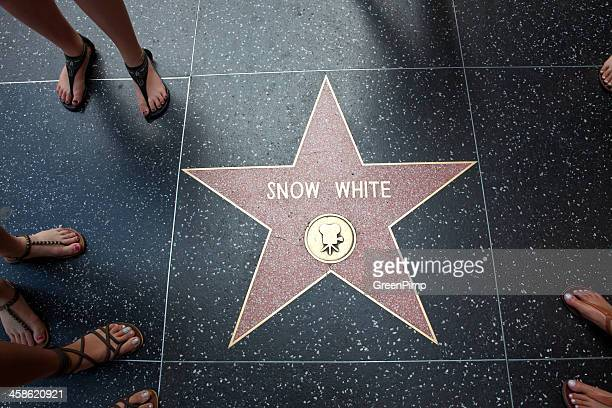 hollywood walk of fame star snow white - snow white stock photos and pictures