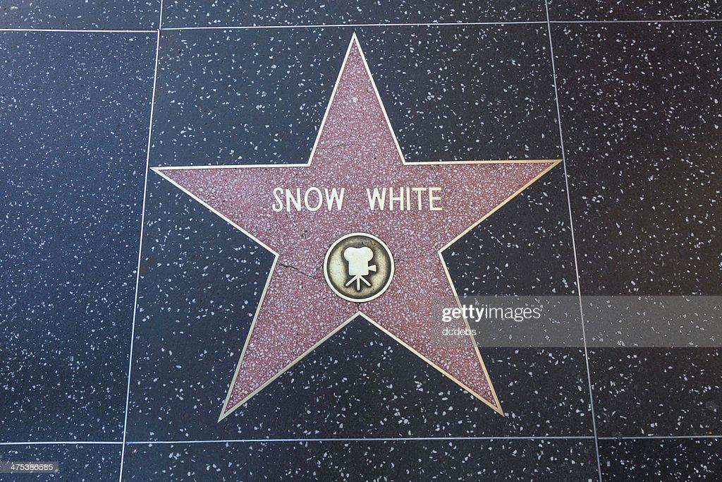 Hollywood Walk of Fame Star Snow White : Stock Photo
