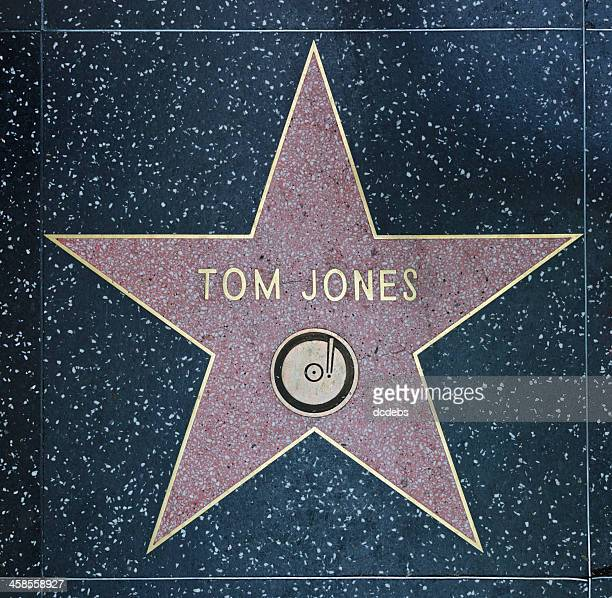 hollywood walk of fame star tom jones - tom jones singer stock pictures, royalty-free photos & images