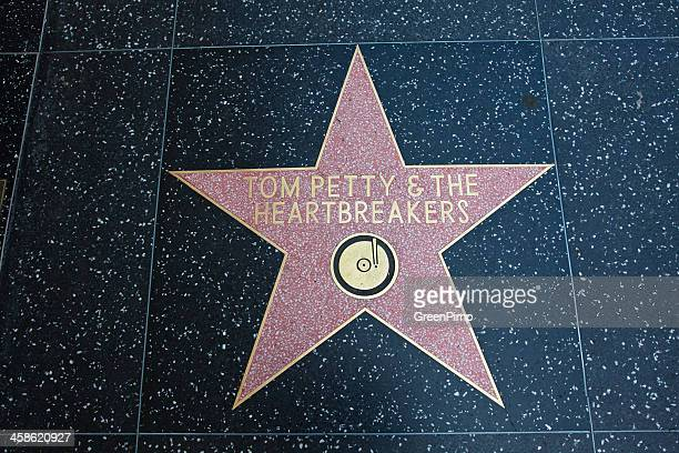 hollywood walk of fame star tom petty heartbreakers - celebrity feet stock pictures, royalty-free photos & images