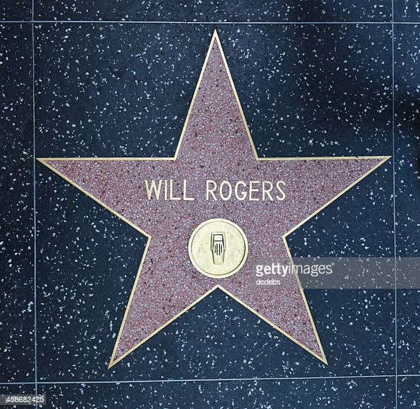 hollywood walk of fame star will rogers - will rogers stock photos and pictures