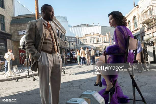 TIMELESS 'Hollywoodland' Episode 203 Pictured Malcolm Barrett as Rufus Carlin Alyssa Sutherland as Hedy Lamar