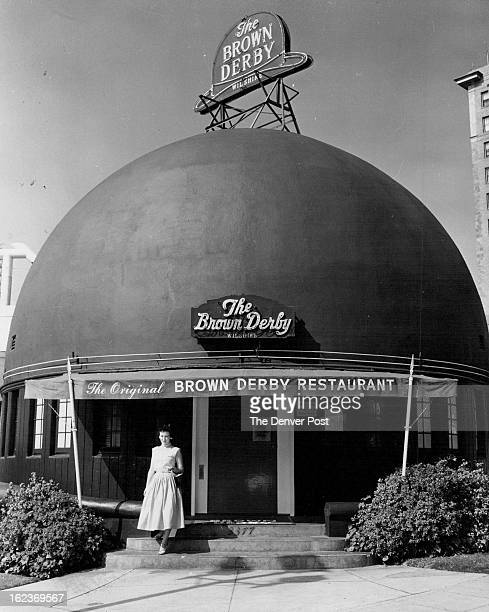 FEB 21 1956 Hollywood's original Brown Derby restaurant on Wilshire Blvd is a favorite gathering place for members of the movie industry The Brown...