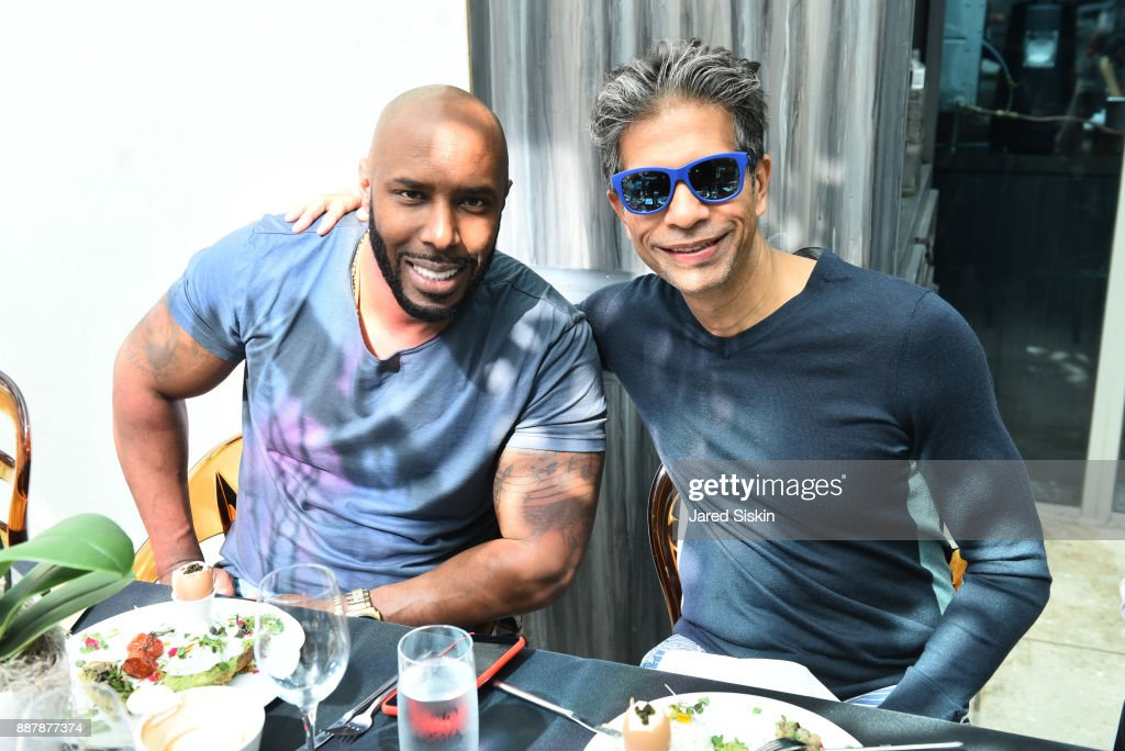 Holman Arthurs and Neel Shukla attend Avant Gallery Celebrates 10th Anniversary With The First Breakfast At LaMuse Cafe During Art Basel on December 7, 2017 in Miami, Florida.