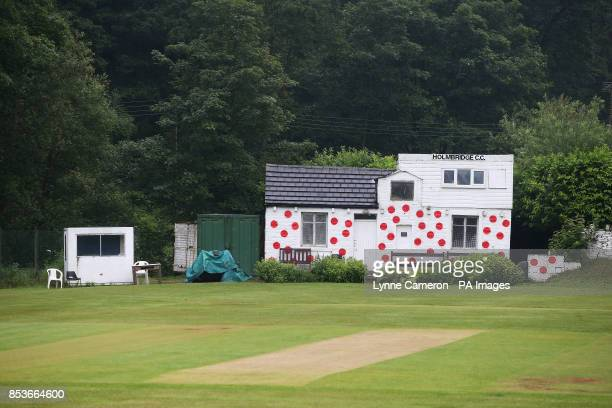 Holmbridge cricket club is painted in the colours of the Maillot A Pois od polkadot jersey the 'king of the mountains' colours as part of the route...