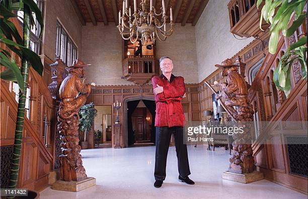 Holmby Hills CA Hugh Hefner at his Playboy Mansion