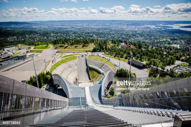 holmenkollen - ski jumping stock pictures, royalty-free photos & images