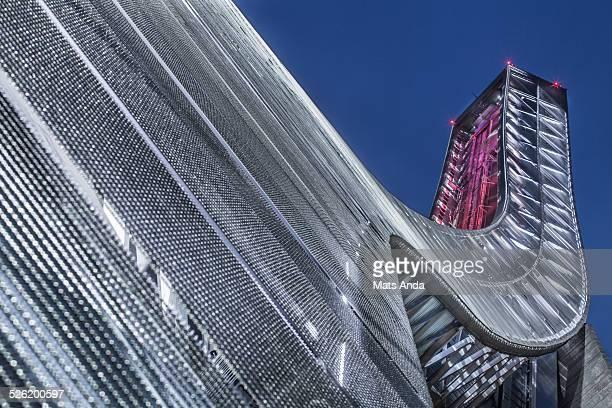 holmenkollen ski jump arena - international landmark stock pictures, royalty-free photos & images