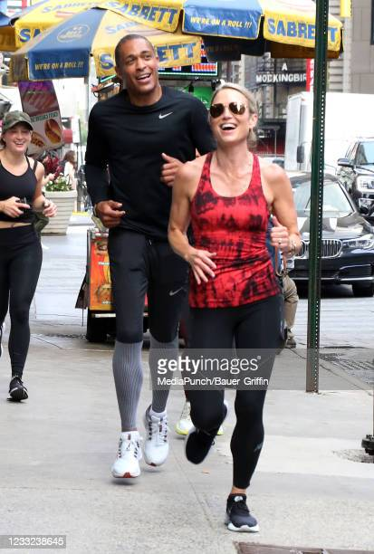 Holmes and Amy Robach are seen on June 02, 2021 in New York City.