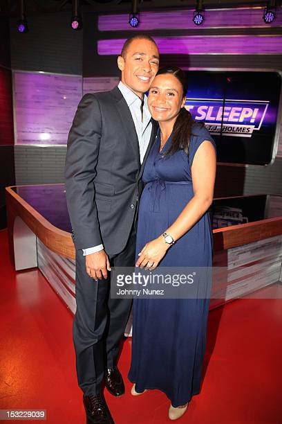 TJ Holmes and Marilee FiebigHolmes attend the premiere of Don't Sleep at BET Studios on October 1 2012 in New York City