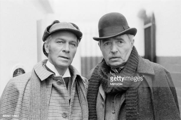 Holmes and Watson after 'Jack the Ripper'. Christopher Plummer and James Mason on location in Windsor, Berkshire, 22nd June 1978.