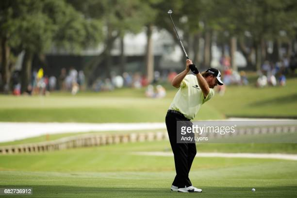 B Holmes of the United States plays a shot on the 11th hole during the third round of THE PLAYERS Championship at the Stadium course at TPC Sawgrass...
