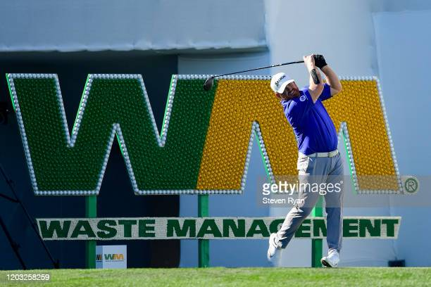 B Holmes plays his shot from the 17th tee during the second round of the Waste Management Phoenix Open at TPC Scottsdale on January 31 2020 in...