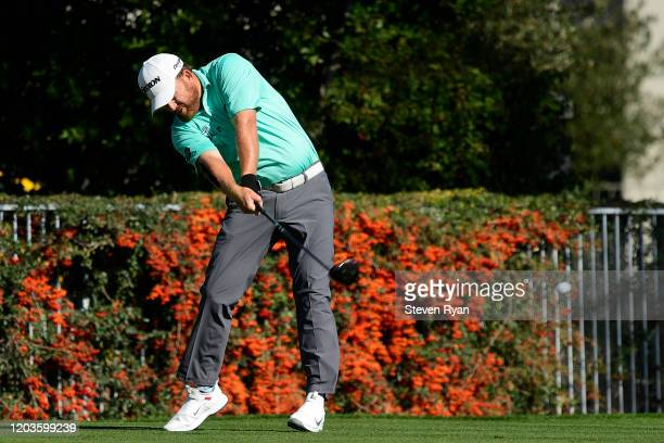 B Holmes plays his shot from the second tee during the final round of the Waste Management Phoenix Open at TPC Scottsdale on February 02 2020 in...