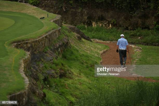 B Holmes walks on the 3rd hole of his match during round three of the World Golf ChampionshipsDell Technologies Match Play at the Austin Country Club...