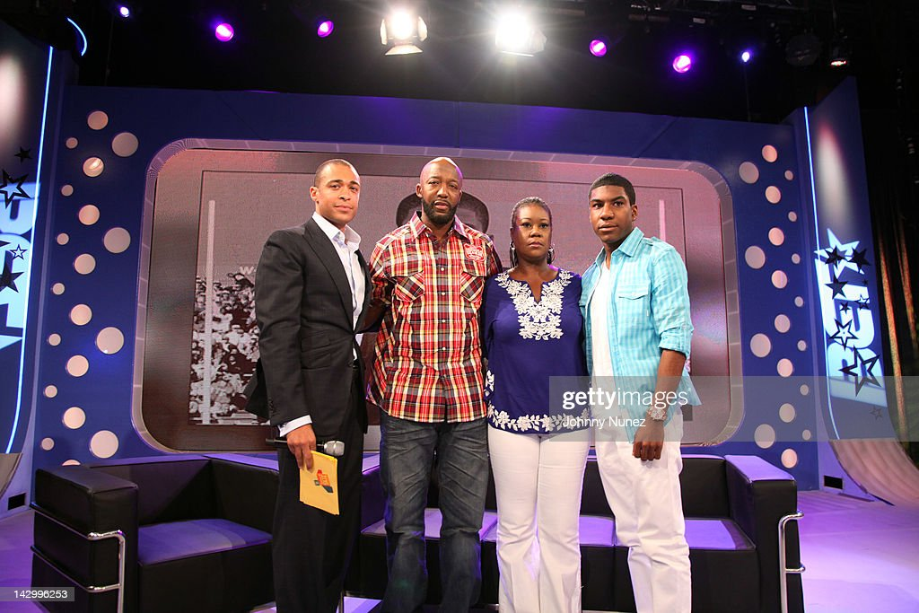 "Trayvon Martin's Family, Sybrina Fulton, Tracy Martin Visit And Jahvaris Fulton, Visit BET's ""106 & Park"" - April 16, 2012"