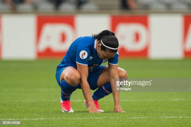 Holmfridur Magnusdottir of Iceland women during the UEFA WEURO 2017 Group C group stage match between Iceland and Switzerland at the Vijverberg...