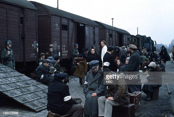 Holocaust Aired Pictured Prisoners arrive at concentration camp