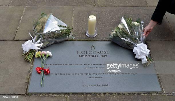 Holocaust memorial day flowers.