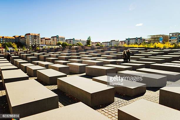 holocaust memorial in berlin - holocaust stock pictures, royalty-free photos & images